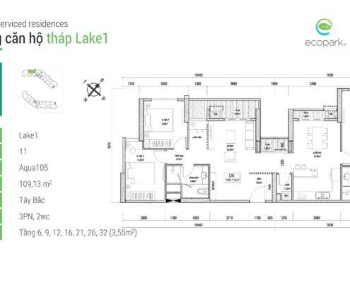 Thiết kế căn hộ Aqua Bay 105 Ecopark 02