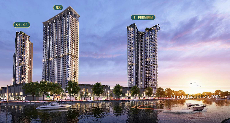 Phối Cảnh 4 Tòa Chung Cư Sky Oasis Ecopark