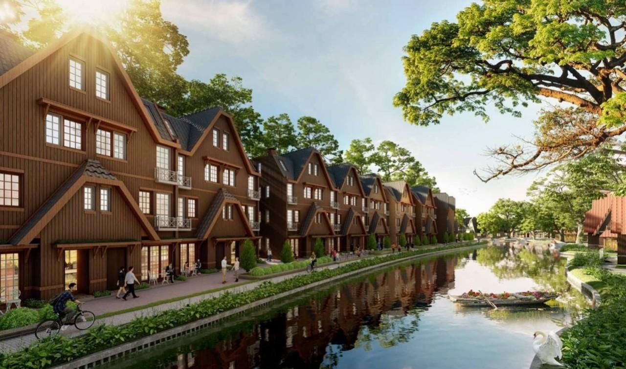 Phối Cảnh Biệt Thự Làng Hà Lan Ecopark 01