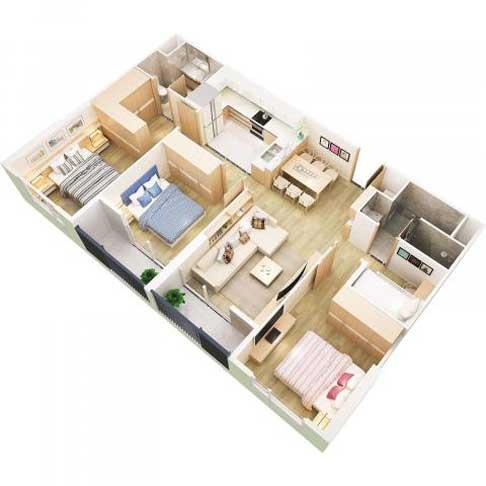 Căn-Hộ-3-phòng-ngủ-(90m2)-West-Bay