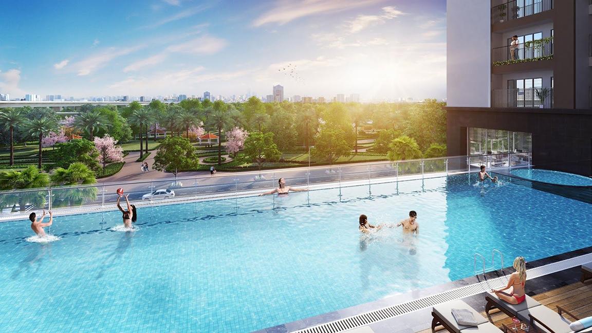hồ bơi eco smart city co linh